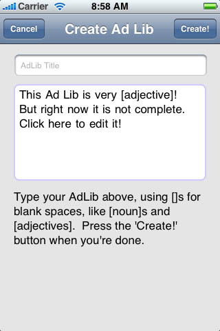 Screenshot Ad Libs! It's better than [noun] – ON SALE NOW!